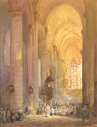cathedral at carcassonne by colin campbell cooper