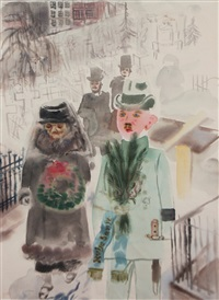 mourning by george grosz