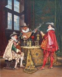 le trio a cordes by adolphe alexandre lesrel