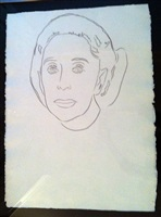 martha graham drawing by andy warhol