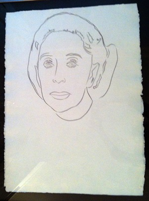 martha graham drawing by andy warhol
