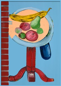 still life with ripe banana by clayton brothers