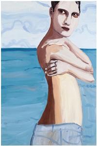 brunette by the sea by chantal joffe