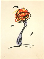 twirling fork, with meatball and spaghetti (a. & p. 247) by claes oldenburg