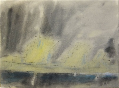 three sails by lyonel feininger