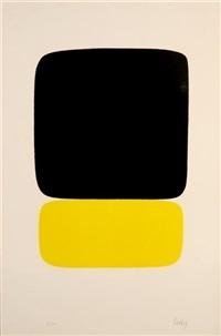 black over yellow (+ robert rauschenberg