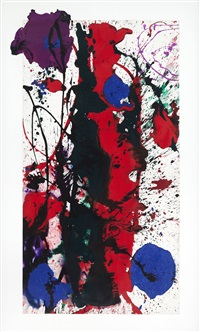untitled - sf89-112 by sam francis