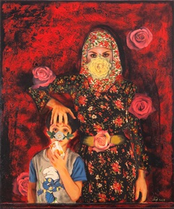 this way up painting the roses red by shurooq amin