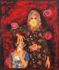 this way up - painting the roses red by shurooq amin
