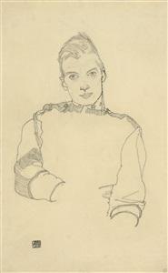 portrait of an austrian officer by egon schiele