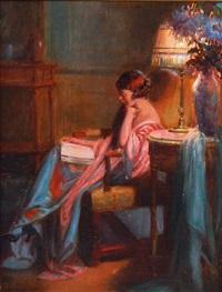 femme lisant by delphin enjolras