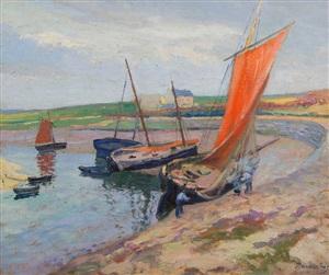 bateau au bord de la mer by paul madeline