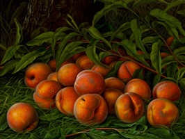 still life with peaches by levi wells-prentice