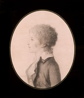 profile of a young man facing left by charles balthazar julien fevret de saint-mémin