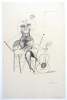 the guitaress by saul steinberg
