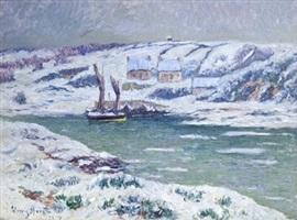effet de neige dans le finistère by henry moret