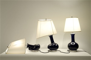 lamps (blue) by beth campbell