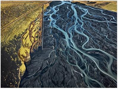 markarfljot river nr. 1, erosion control iceland by edward burtynsky