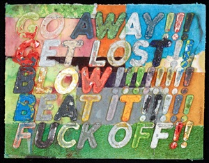 go away by mel bochner