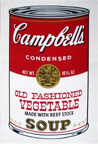 campbells soup ii: old fashioned vegetable fs ii.54 by andy warhol