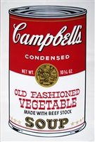 campbells soup ii: old fashioned vegetable (fs ii.54) by andy warhol