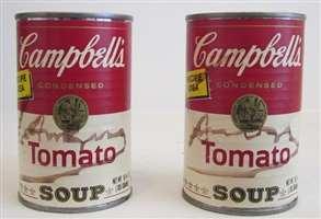 campbell's soup cans (tomato) by andy warhol