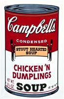 campbells soup ii: chicken n dumplings (fs ii58) by andy warhol