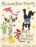 affiche pour museum jean tinguely by niki de saint phalle