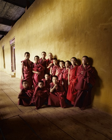 buddist monks, ganden monastery, tibet by jimmy nelson