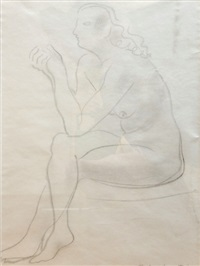 nude threading a needle by barbara hepworth