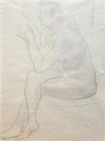 nude threading a needle by barbara hepworth