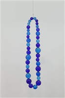 untitled (aquamarine and cobalt necklace) by jean michel othoniel
