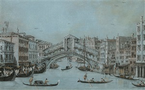 die rialto brücke in venedig by giacomo guardi