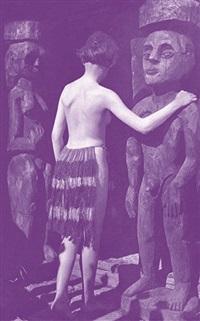 nina hard vor dem eingang des hauses in den lärchen, sommer 1921 by ernst ludwig kirchner