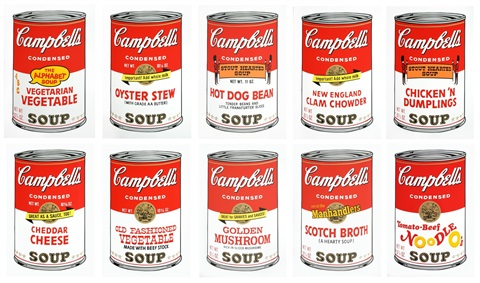 campbells soup i sunday b morning portfolio by andy warhol