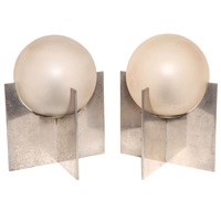pair of french art deco table lamps by boris jean lacroix