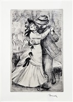la danse à la campagne (the dance in the country) by pierre-auguste renoir