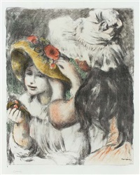 le chapeau épinglé (the hat secured with a pin) by pierre-auguste renoir