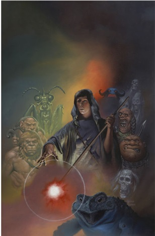 grey star the wizard, paperback cover by richard corben
