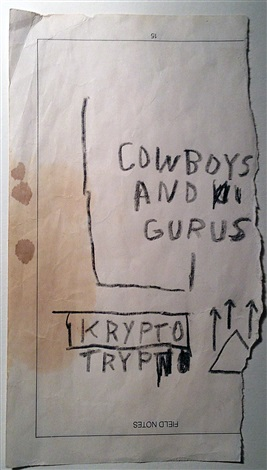 untitled cowboys and gurus by jean michel basquiat