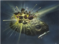 asteroid collision by christopher foss