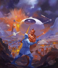 starship warriors, paperback cover by paul lehr