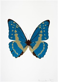 the souls iii - turquoise/cool gold/chocolate by damien hirst