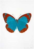 the souls ii - topaz/prairie copper/blind impression by damien hirst