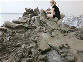 exhibition set up by julia steiner