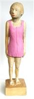 frau mit rosa kleid by peter herrmann