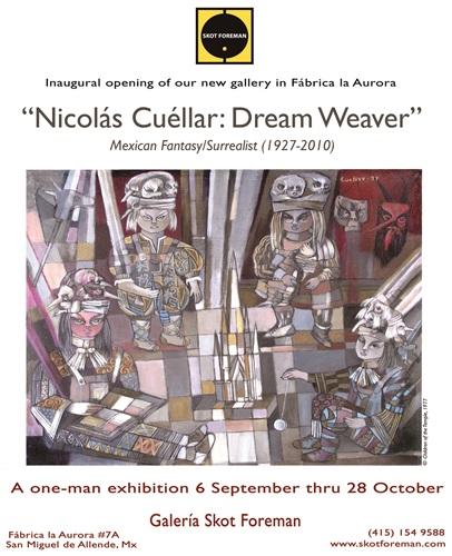 """nicolas cuellar: dream weaver"" poster"