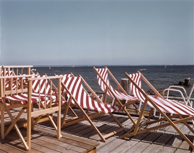 chairs in the sun provincetown cape cod 1984 by joel meyerowitz