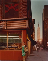 empire state series: young dancer, 34th street and 9th avenue, new york city, 1978 by joel meyerowitz