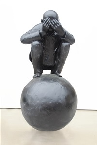 man with ball 5 by wang shugang